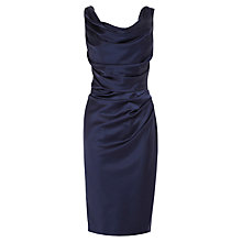 Buy Coast Manda Duchess Satin Dress, Navy Online at johnlewis.com