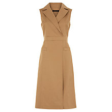 Buy Jaeger Waisted Trench Dress, Camel Online at johnlewis.com