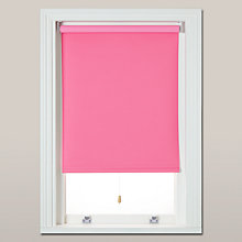 Buy little home at John Lewis Blackout Roller Blind, Bright Pink Online at johnlewis.com
