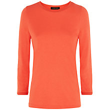 Buy Jaeger Knit Trim T-shirt, Paprika Online at johnlewis.com