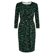 Buy Hobbs Suri Dress, Lawn Green Black Online at johnlewis.com