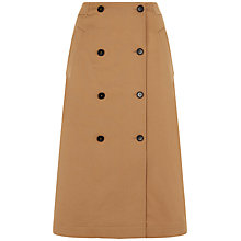 Buy Jaeger Double Breasted Trench Skirt, Camel Online at johnlewis.com