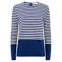 Buy Hobbs Iona Top, Dark Blue Ivory Online at johnlewis.com