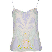 Buy Ted Baker Printed Scallop Cami, Gold Online at johnlewis.com