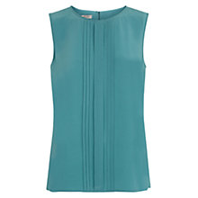 Buy Hobbs Elodie Silk Top, Kingfisher Online at johnlewis.com