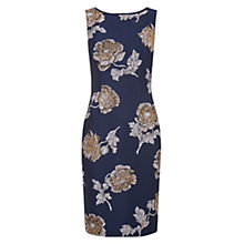 Buy Hobbs Poppy Print Shift Dress, Navy Oyster Online at johnlewis.com