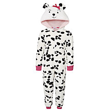 Buy John Lewis Girls' Dalmatian Onesie, Black/White Online at johnlewis.com