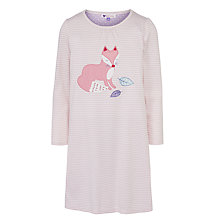 Buy John Lewis Girl Fox Applique Nightdress, Pink Online at johnlewis.com