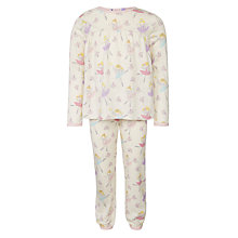 Buy John Lewis Girl Fairies Print Pyjamas, Cream Online at johnlewis.com