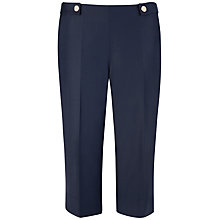 Buy Ted Baker Cropped Tailored Trousers, Blue Online at johnlewis.com