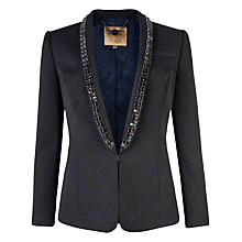 Buy Ted Baker Jacquard Suit Jacket, Blue Online at johnlewis.com