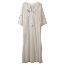 Buy East Mirror Work Kaftan, White Online at johnlewis.com