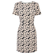 Buy Oasis Brushstroke Floral Shift Dress, Multi/White Online at johnlewis.com