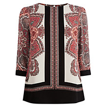 Buy Oasis Paisley Placement Print Top, Multi Online at johnlewis.com