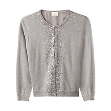 Buy East Silk Lined Sequin Cardigan, Slate Online at johnlewis.com