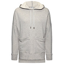 Buy Whistles Hooded Sweatshirt, Grey Marl Online at johnlewis.com