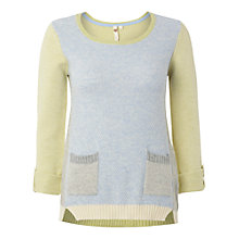 Buy White Stuff Dutch Maye Jumper, Bicycle Blue Online at johnlewis.com