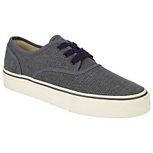 Buy Polo Ralph Lauren Morray Canvas Trainers, Dark Chambray Online at johnlewis.com