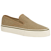 Buy Polo Ralph Lauren Mytton Slip-On Canvas Shoes, Tan Online at johnlewis.com