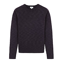 Buy Jigsaw Wool Linen Stretch Crew Neck Jumper Online at johnlewis.com