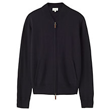 Buy Jigsaw Merino Bomber Jacket, Navy Online at johnlewis.com