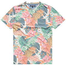 Buy Tommy Hilfiger Ivy Floral Print T-Shirt, Snow White/Multi Online at johnlewis.com