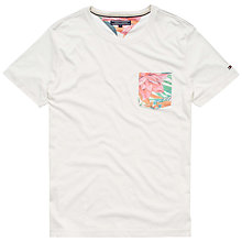 Buy Tommy Hilfiger Sid Floral Pocket T-Shirt, Snow White Online at johnlewis.com
