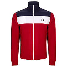 Buy Fred Perry Sports Panel Track Jacket, Blood Online at johnlewis.com