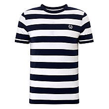 Buy Fred Perry Wide Stripe Crew Neck T-Shirt Online at johnlewis.com