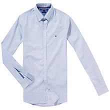 Buy Tommy Hilfiger Square Print Slim Fit Shirt, Classic White/Monaco Blue Online at johnlewis.com