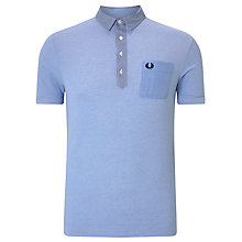Buy Fred Perry Woven Trim Polo Shirt Online at johnlewis.com