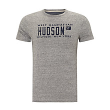 Buy Tommy Hilfiger Liam New York T-Shirt, Tornado Heather Online at johnlewis.com