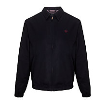 Buy Fred Perry Caban Harrington Jacket, Navy Online at johnlewis.com