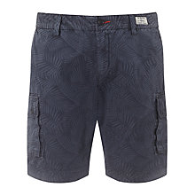 Buy Tommy Hilfiger John Finny Print Cargo Shorts, Navy Blazer Online at johnlewis.com
