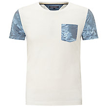 Buy Tommy Hilfiger Niels Contrast Pocket T-Shirt, Snow White Online at johnlewis.com