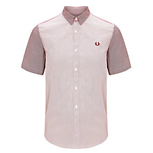 Buy Fred Perry Contrast Yarn Stripe Short Sleeve Shirt Online at johnlewis.com