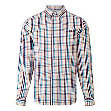 Buy Fred Perry Bold Gingham Check Shirt, Mid Imperial Online at johnlewis.com