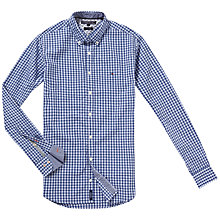 Buy Tommy Hilfiger Elba Check Shirt, Dutch Navy Heather Online at johnlewis.com