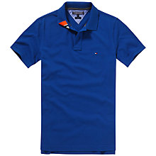 Buy Tommy Hilfiger Slim Fit Polo Shirt, Monaco Blue Online at johnlewis.com