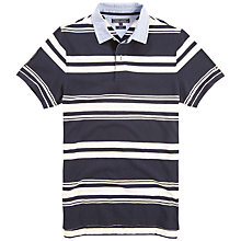 Buy Tommy Hilfiger Bernhard Stripe Polo Shirt, Black Iris Online at johnlewis.com