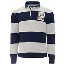 Buy Tommy Hilfiger Perkey Rugby Top, Cloud Heather/Black Iris Online at johnlewis.com