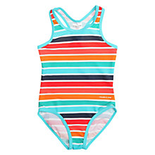 Buy Polarn O. Pyret Baby Striped Swimsuit, Blue Online at johnlewis.com