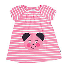 Buy Polarn O. Pyret Baby Appliqué Dress, Pink Online at johnlewis.com