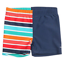 Buy Polarn O. Pyret Baby Colourful Swimming Trunks, Blue Online at johnlewis.com