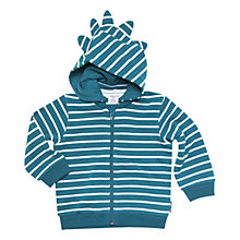 Buy Polarn O. Pyret Baby Stripe Hoodie, Navy Online at johnlewis.com