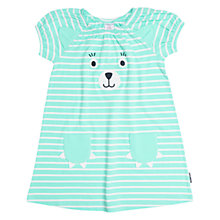 Buy Polarn O. Pyret Girls' Appliqué Dress, Blue Online at johnlewis.com