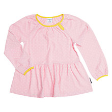 Buy Polarn O. Pyret Children's Polka Dot Top, Pink Online at johnlewis.com