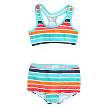 Buy Polarn O. Pyret Girls' Stripe Bikini, Blue Online at johnlewis.com
