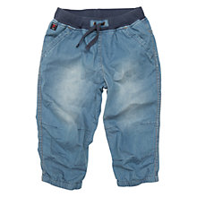 Buy Polarn O. Pyret Children's Denim Long Shorts, Blue Online at johnlewis.com