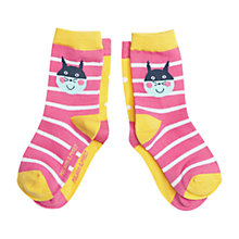 Buy Polarn O. Pyret Children's Animal Socks, Pack of 2, Pink Online at johnlewis.com